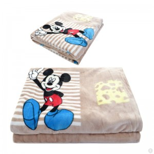 Mickey Mouse Fleece Kinderdeken 150x220 cm - khaki