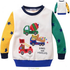 Beertjes Stars and Vehicles Jongens Sweater